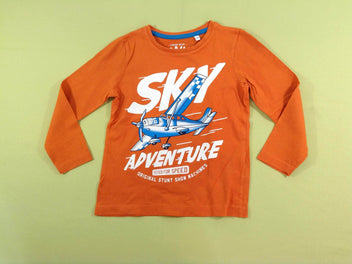 T-shirt m.l orange avion
