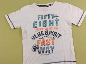 T-shirt m.c blanc Fifty Eight