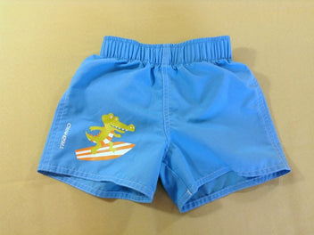 Maillot short bleu crocodile