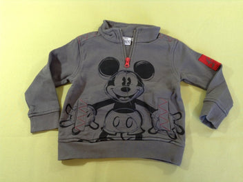 Sweat gris Mickey col camionneur