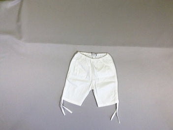Short blanc retroussable