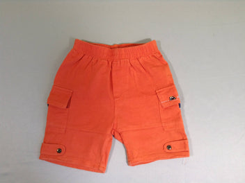 Short jersey orange poches latérales
