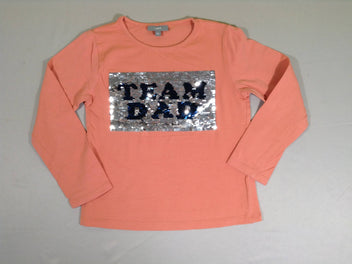 T-shirt m.l saumon foncé sequins réversibles team dad