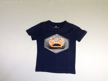 T-shirt m.c bleu voiture orange