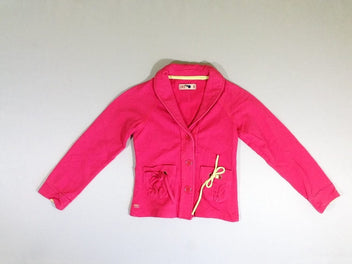 Veste molleton rose vif