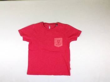 T-shirt m.c rouge flammé Give