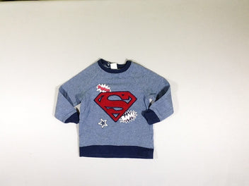 Sweat bleu chiné Superman