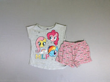 Pyjashort gris rose little pony