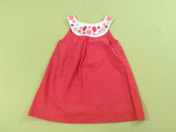 Robe s.m corail/blanc ronds