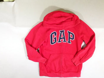 Sweat zippé à capuche rouge Gap