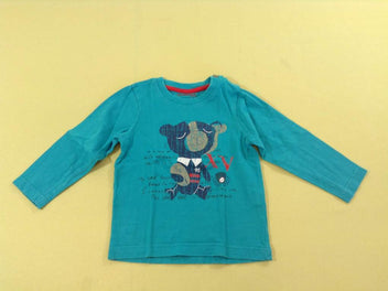 T-shirt m.l turquoise ours