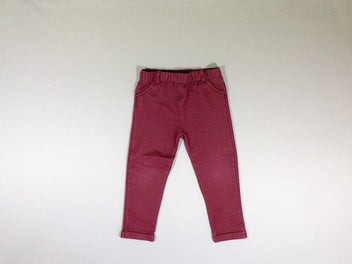 Pantalon jegging effet jean rouge bordeaux stretch