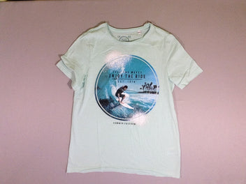 T-shirt m.c. vert d'eau Feel the waves...