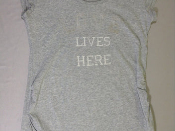 T-shirt m.c gris chiné Love lives here