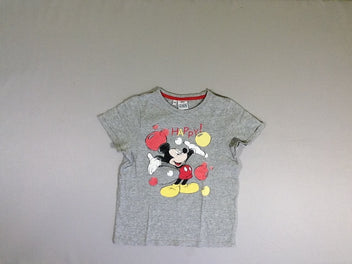 T-shirt m.c gris chiné Mickey