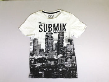T-shirt m.c. blanc/noir Submix immeubles