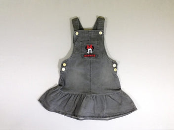 Robe salopette denim gris foncé Minnie