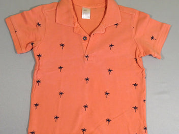 Polo m.c. orange palmiers