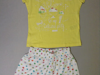Pyjashort 2pcs jersey jaune Welcome