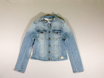 Veste jean soft clair clous