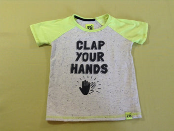 T-shirt m.c gris chiné Clap your hands, Z8
