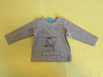 T-shirt m.l gris chiné Snoopy
