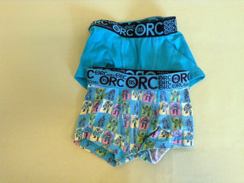 2 caleçons boxers vert turquoise