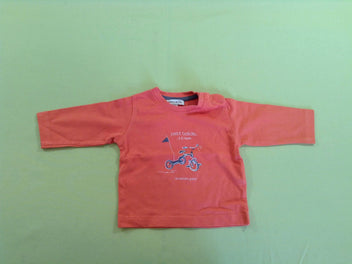 T-shirt m.l orange petit bolide...