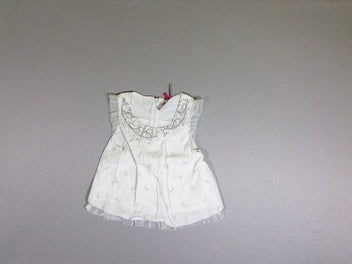 Blouse s.m blanche noeuds tulle