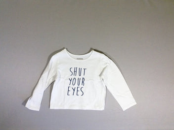 T-shirt m.l. blanc Shut your eyes