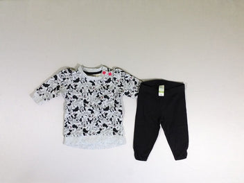 Ensemble sweat gris Minnie + legging noir