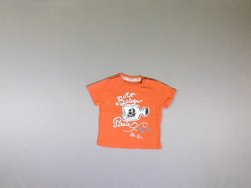 T-shirt m.c orange bateau