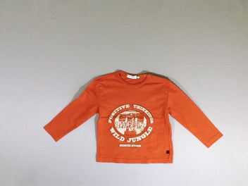 T-shirt m.l orange flammé Tiger