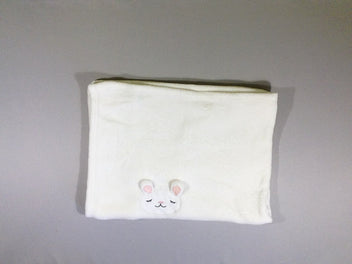 Couverture softy blanc lapin (Samatex)