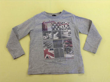 T-shirt m.l gris chiné Londres