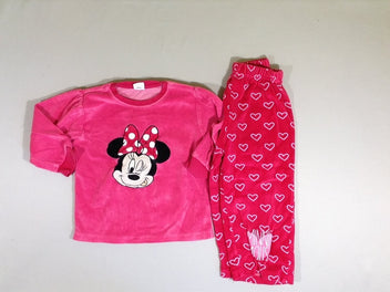 Pyjama 2pcs velours rose Minnie