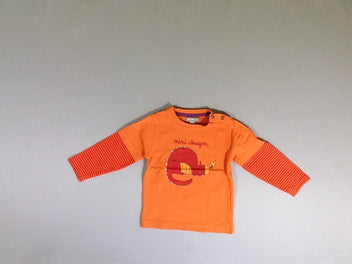 T-shirt m.l orange dragon