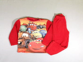 Pyjama 2 pcs polar rouge Cars, bouloché