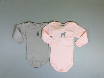 2 bodies ml rose/gris ours