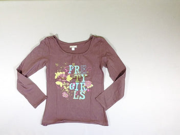 T-shirt m.l mauve Pretty girls