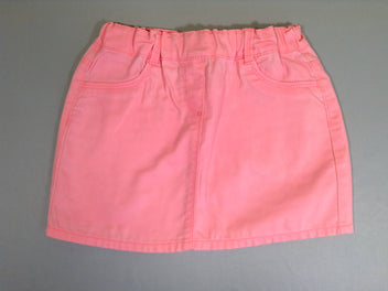 Jupe denim rose fluo