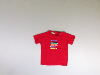 T-shirt m.c rouge crayons