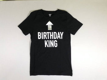 T-shirt m.c. noir Birthday King