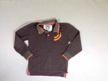 Polo m.l. brun rouge orange
