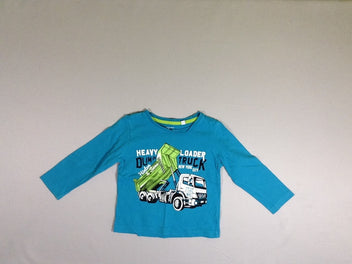 T-shirt m.l turquoise camion