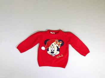 Pull rouge Minnie noël