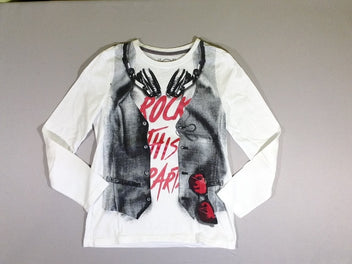 T-shirt m.l. blanc casque/gilet Rock...