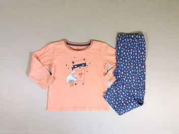 Pyjama 2pcs jersey orange bleu  super cat