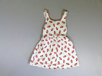 Robe s.m dos ouvert blanche poissons