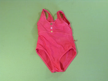 Maillot corail 3 boutons